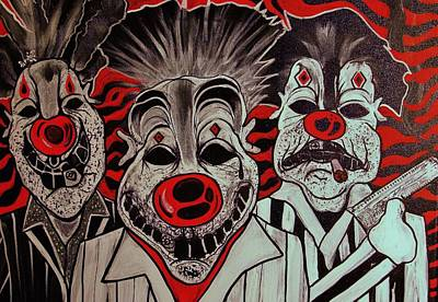 Who R These Clown's..... Print by Ottoniel Lima