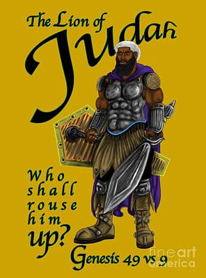 Digital Art - Who Shall Rouse Judah by Robert Watson
