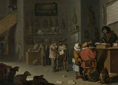 Master Painting - Who Sues For A Cow by Cornelis Saftleven