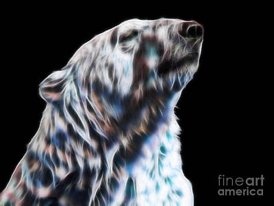 Digital Art - Who You Looking At? - Fractal Polar Bear by Tracey Everington