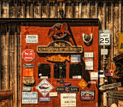 Photograph - Carriage House Signs by Thom Zehrfeld