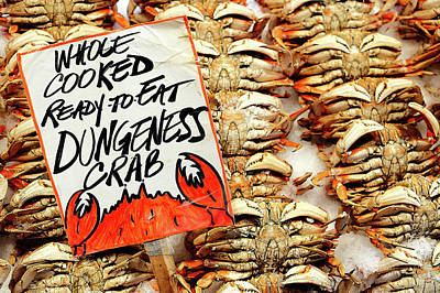Photograph - Whole Cooked Crabs by Todd Klassy