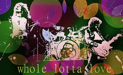Led Zeppelin Drawing - Whole Lotta Love  by Enki Art