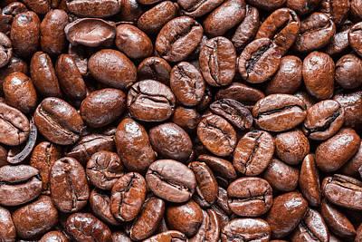 Whole Roasted Coffee Beans Art Print by Steve Gadomski