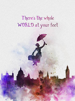 Mixed Media - Whole World At Your Feet by Rebecca Jenkins