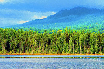 Photograph - Whonnock Lake Mountain Photo Art by Sharon Talson