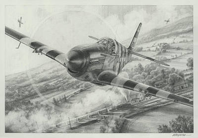 Air Ace Drawing - Whoo A Train by Wade Meyers