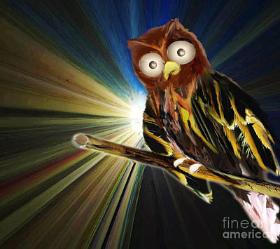 Painting - Whoo Gives A Hoot by Belinda Threeths