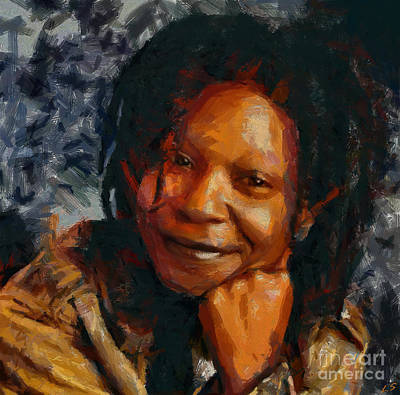 Painting - Whoopi Goldberg by Sergey Lukashin