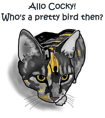 Tiger Digital Art - Who's A Pretty Bird Then? by Joan Stratton