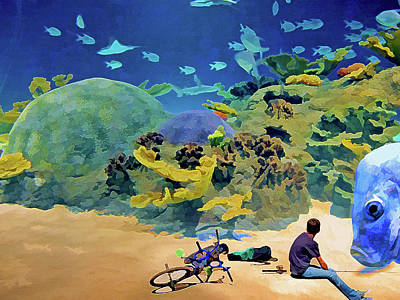Mixed Media - Who's Fishing? by Lynda Lehmann