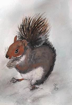 Painting - Who's Had Me Nuts by Carole Robins