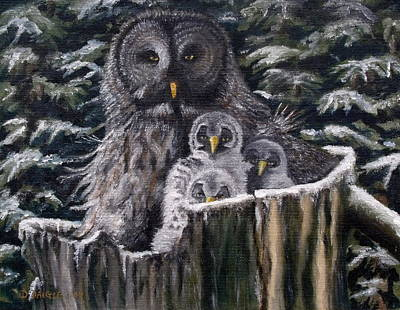 Art Print featuring the painting Who's Looking At Who by Diane Daigle