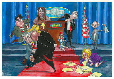 Whitehouse Painting - Who's Next?? by Pete Conroy