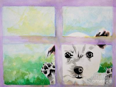 Painting - Whos That Doggy In The Window by Chrisann Ellis