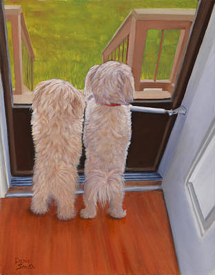 Danielle Smith Painting - Who's There by Danielle Smith