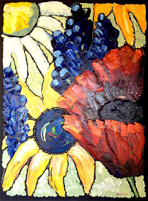 Painting - Who's Your Poppy by Carrie Jacobson