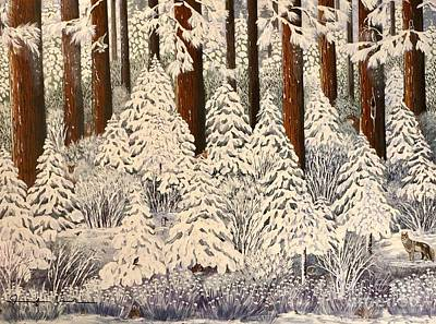 Painting - Whose Woods These Are I Think I Know					 by Jennifer Lake