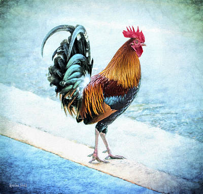 Why Did The Chicken... Art Print by Korrine Holt