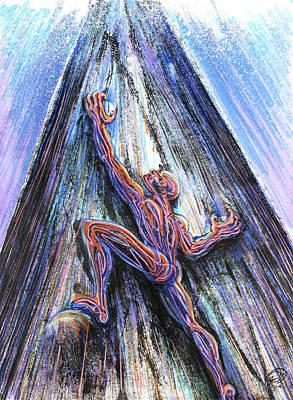 Mixed Media - Why Do I Keep Climbing? by Ryan Irish