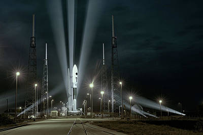 Digital Art - Why Do Rockets Launch At Night  by OLena Art Brand