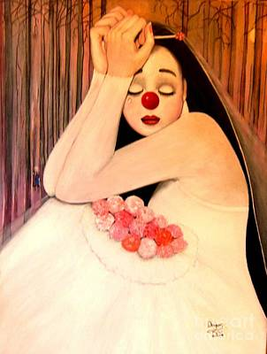 Why Is The Bride Crying Art Print by Patricia Velasquez de Mera