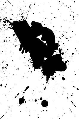 Black-and-white Digital Art - Why Me by Katrina Britt