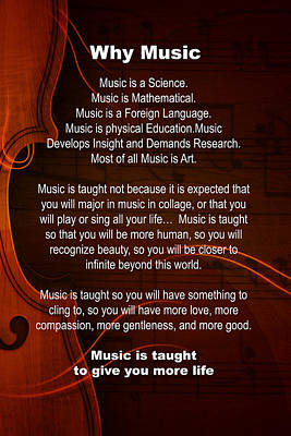 Why Music For Violin Or Viola 4823.02 Art Print by M K  Miller