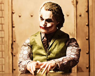 Heath Ledger Photograph - Why So Serious by David Greatorex