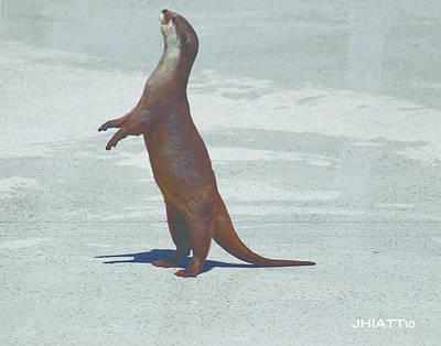 Digital Art - Why You I Otter by Justin Hiatt