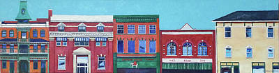 Painting - Whyte Avenue Edmonton by Nel Kwiatkowska