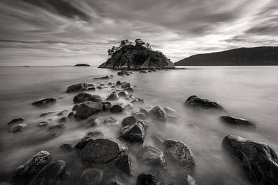 Photograph - Whytecliff Park Seascape Bw by Pierre Leclerc Photography