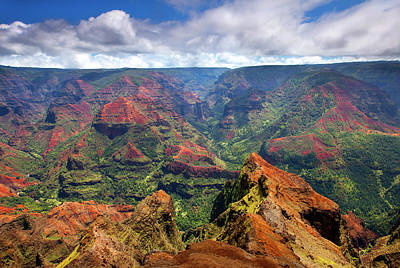Kauai Photograph - Wiamea View by Mike  Dawson