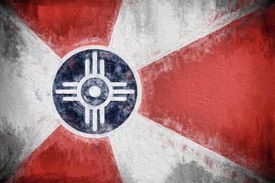 Digital Art - Wichita City Flag by JC Findley