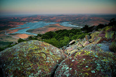 Wichita Mountains In Lawton Art Print