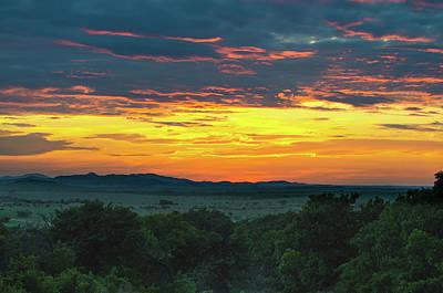 Photograph - Wichita Mountains Sunset by Jeff Phillippi