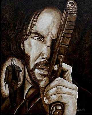 Art Print featuring the painting Wick Is Back by Al  Molina