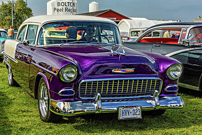 Car-club Photograph - Wicked 1955 Chevy by Steve Harrington
