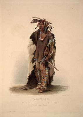 Design Turnpike Vintage Maps - Wicked Chief by Charles Bird King, circa 1822 by Charles Bird King