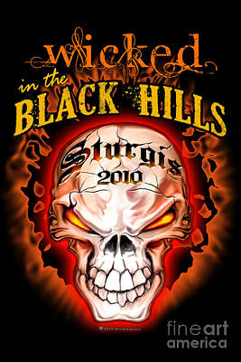 Black Hills Painting - Wicked In The Black Hills - Sturgis 2010 by Michael Spano