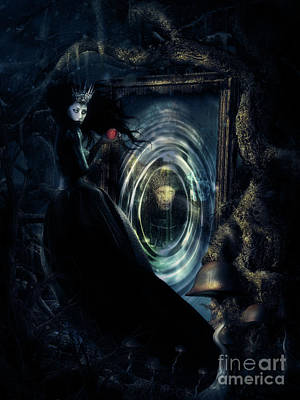 Fantasy Mixed Media - Wicked Queen by Shanina Conway
