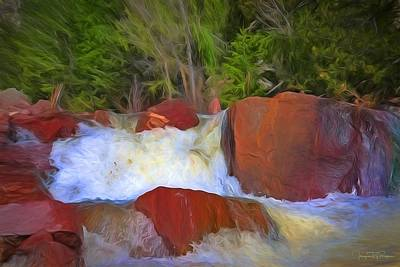 Water Filter Mixed Media - Wicked Rush by Todd Yoder