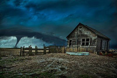Barn Photograph - Wicked by Thomas Zimmerman