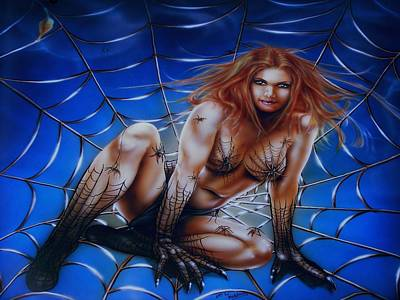 Painting - Wicked Web by James McAdams