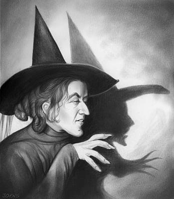 Witch Drawing - Wicked Witch Of The West by Greg Joens