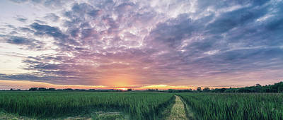 Photograph - Wicken Sky At Sunset by James Billings