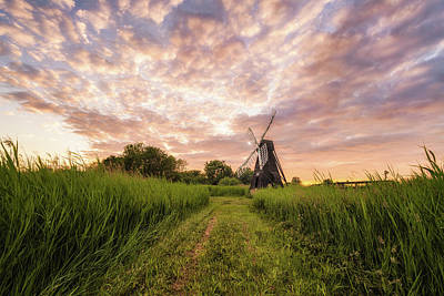 Photograph - Wicken Wind-pump At Sunset I by James Billings