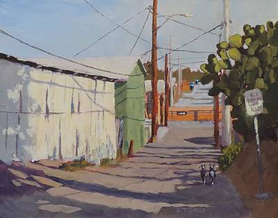 Painting - Wickenburg Alley Cats by Bill Tomsa