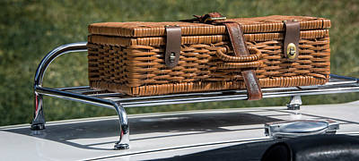 Photograph - Wicker Case On Classic Car by Phil Cardamone