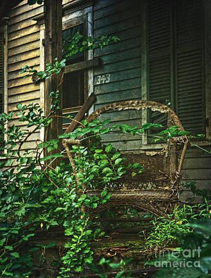 Photograph - Wicker Chair by Debra Fedchin